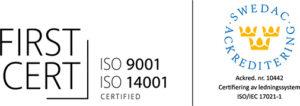 ISO 9001 och 14001 certifikat